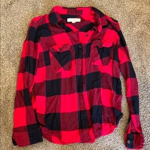 Thread + Supply Red Plaid Shirt
